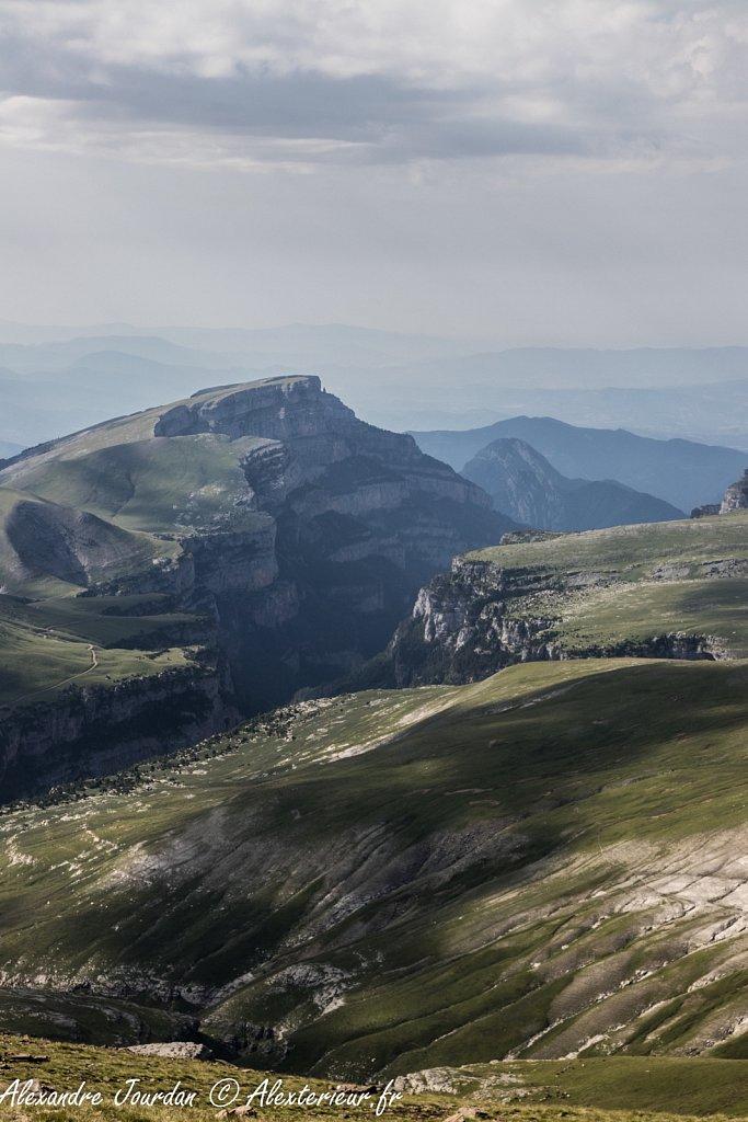 Depuis la Punta Custodia (2519 m), Parque Nacional de Ordesa y Monte Perdido