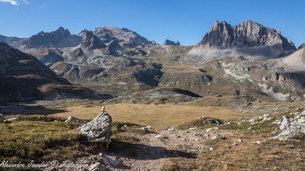 Massif du Mont Thabor depuis le Clot Sauvage