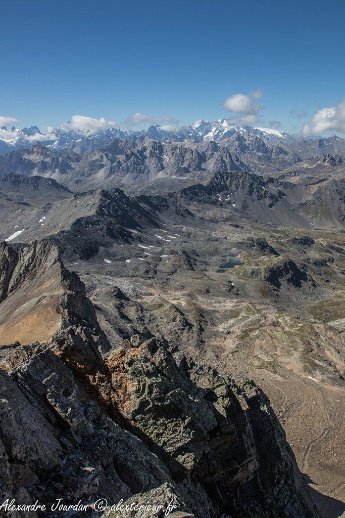 Les Écrins depuis le Mont Thabor (3178 m)